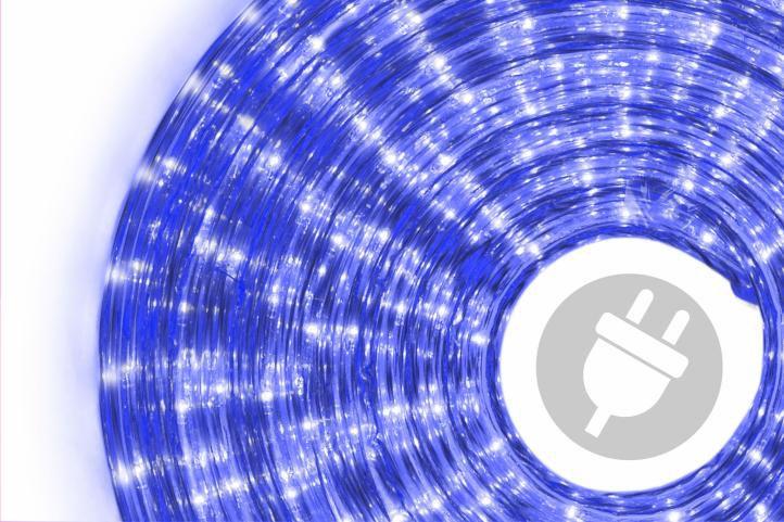 Svetelný kábel - 720 minižiaroviek, 20 m, modrý
