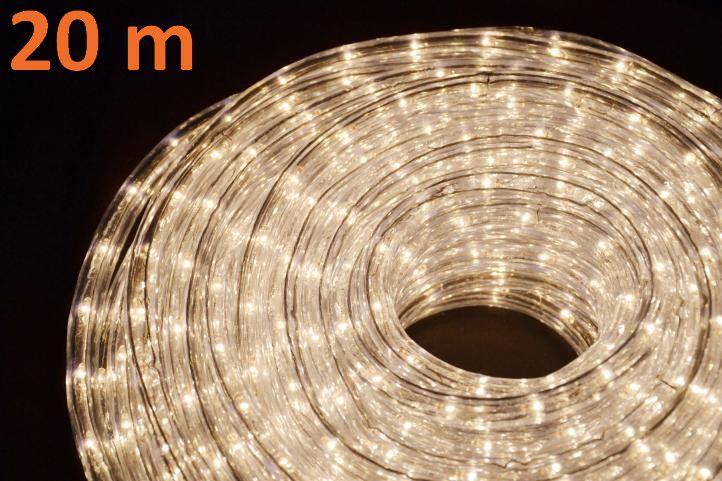 Svetelný kábel 20 m - teplá biela, 720 minižiaroviek