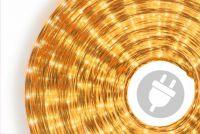 Svetelný kábel 10 m - žltá, 360 minižiaroviek