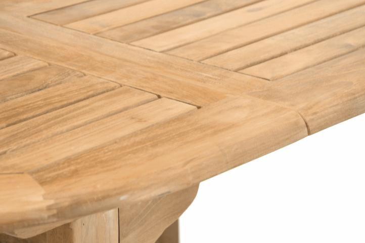 Rozšíriteľný záhradný stôl z teakového dreva Garth, 170 - 230 cm