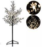 Dekoratívne LED osvetlenie - strom s kvetmi 150 cm, teplá biela