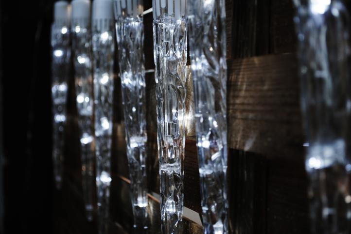 Vianočné osvetlenie - cencúle, studeno biele, 8 funkcií