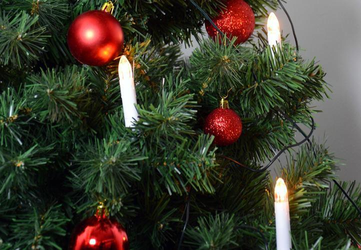 Vianočné sviečky s 30 LED diódami