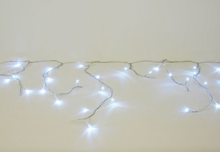 Vianočný svetelný dážď 144 LED studená biela - 5 m