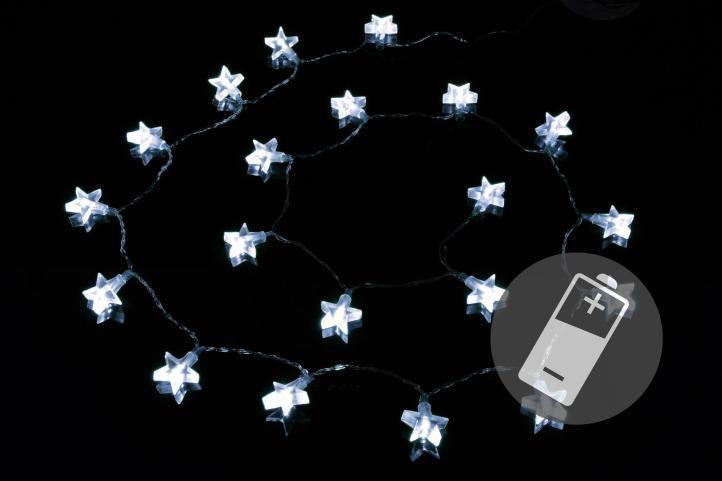 Vianočné osvetlenie - hviezda - studená biela
