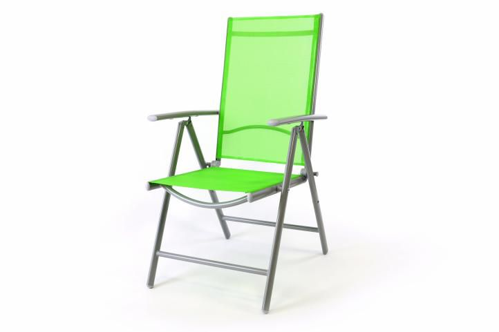 Hliníková skladacia stolička Gardenay - zelená