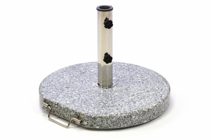Stojan na slnečník (kruhový) - žula / nerezová oceľ, 25 kg
