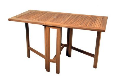 Záhradný skladací stôl DIVERO z teakového dreva