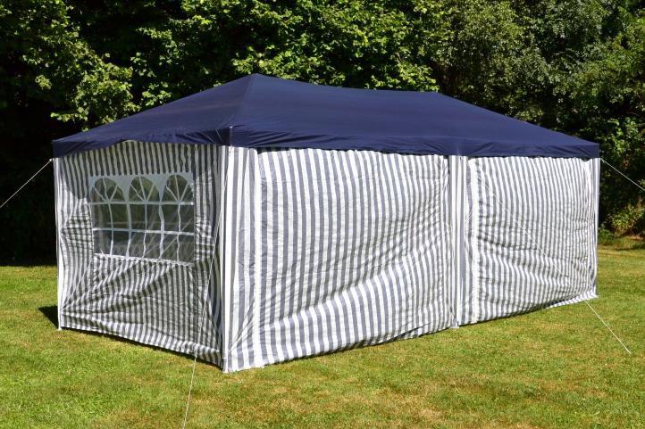 Záhradný párty stan 3 x 6 m, modrý