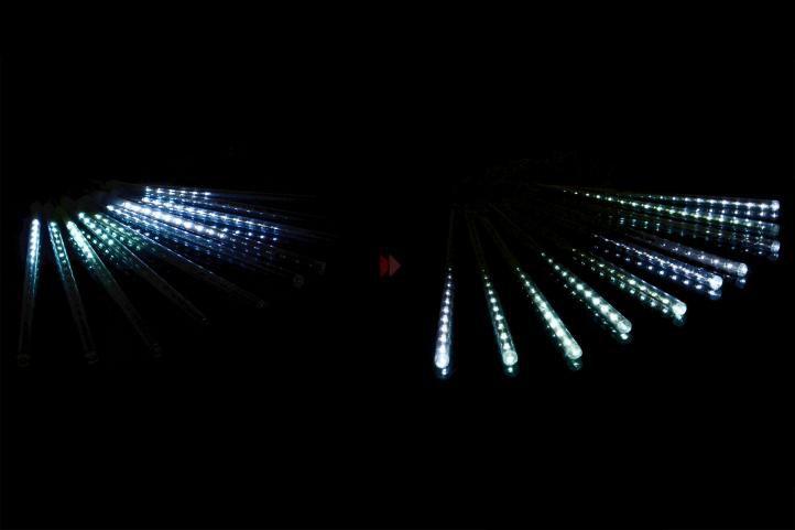 Vianočné osvetlenie s vodopádovým efektom - studeno biele