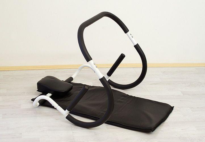 Posilovač brušných svalov AB ROLLER + podložka