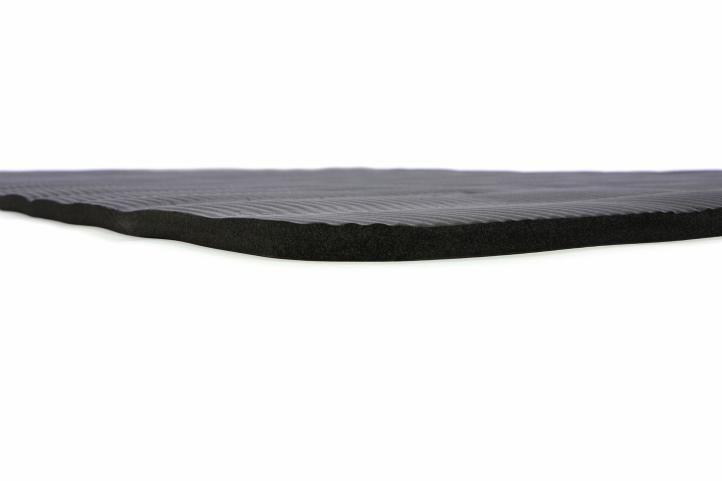 Podložka na cvičenie - karimatka čierna 190 x 102 x 1,5 cm