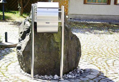 Poštová schránka nerezová so stojanom