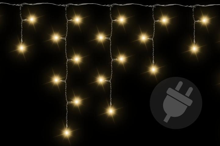 Vianočný svetelný dážď - 2,7 m, 72 LED, teple biely