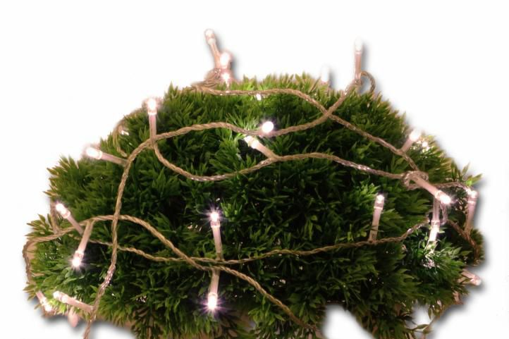 Vianočné LED osvetlenie 10 m s časovým spínačom - teplá biela, 100 diód
