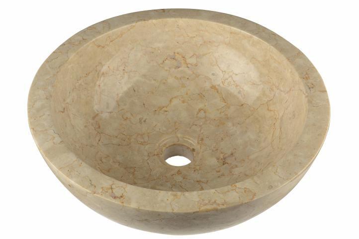 Umývadlo z prírodného kameňa béžové