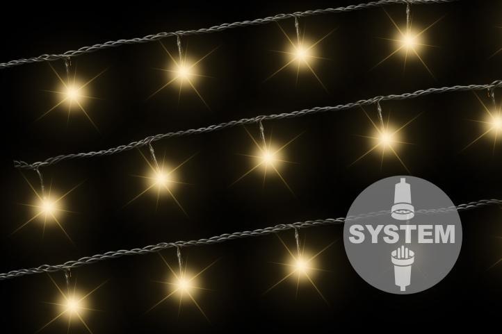 diLED svetelná reťaz - 100 LED teplá biela