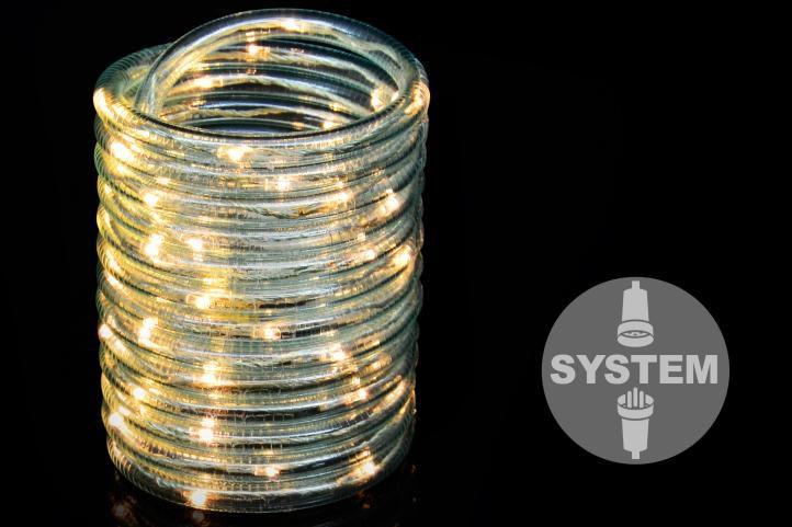 diLED svetelný kábel - 60 LED teplá biela