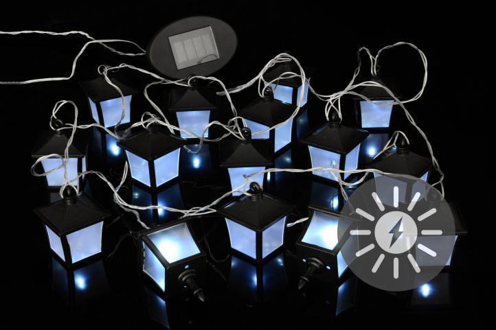 Vonkajšie solárne záhradné LED osvetlenie Garth - lucerničky 24 LED diód