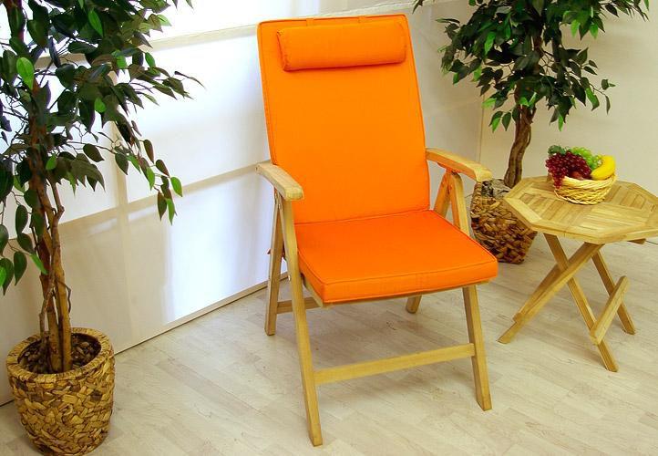 4 x kvalitný poťah Garth na stoličku s vysokým operadlom - oranžový