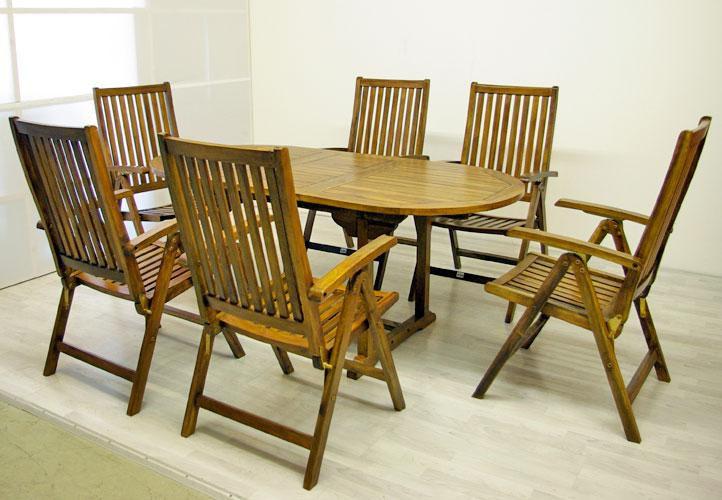 Diver záhradný nábytok z agátového dreva Garth 180 x 240 x 75 x 120 cm