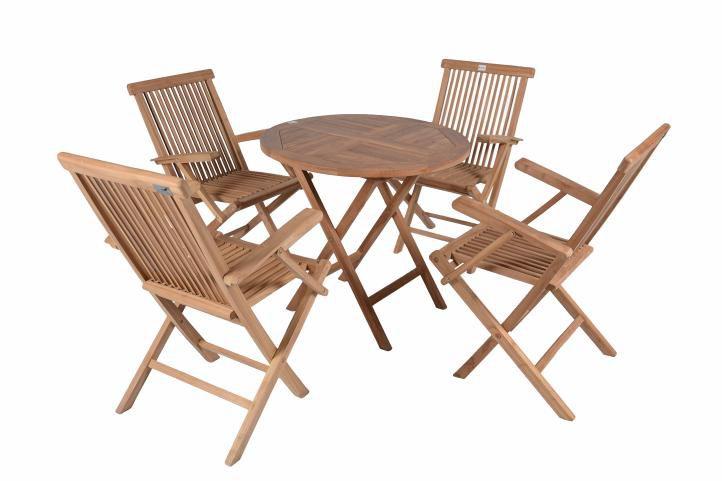 Diver záhradný exteriérový nábytok z tíkového dreva s opierkami Garth