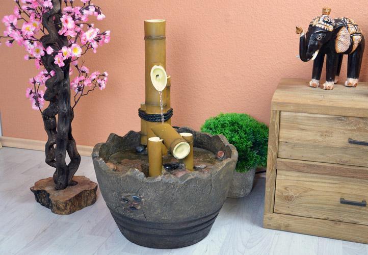 Záhradná fontána - japonská bambusová fontána