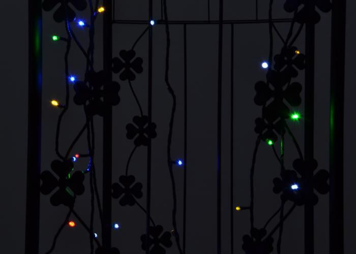 Solárna svetelná reťaz Garth sa 100 LED diódami, farebný