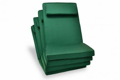 4 x kvalitný poťah na stoličku s vysokým operadlom Garth, zelený