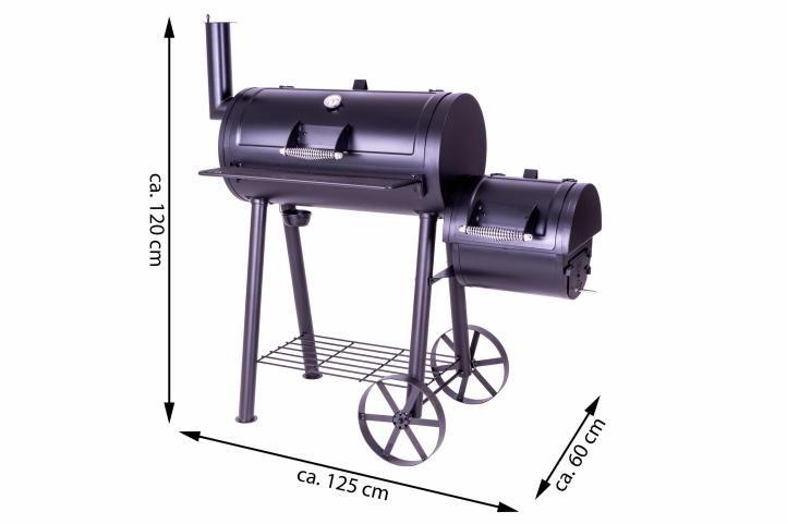 BBQ gril Garth na drevené uhlie, extra veľký, 32 kg