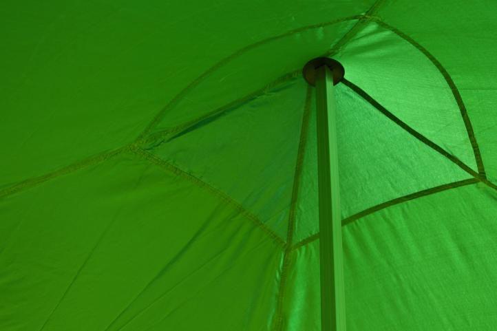 Záhradný párty stan nožnicový 3x3 m, zelený Garth + 4 bočnice