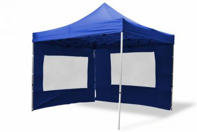 Záhradný párty stan nožnicový 3x3 m, modrý Garth + 4 bočné steny