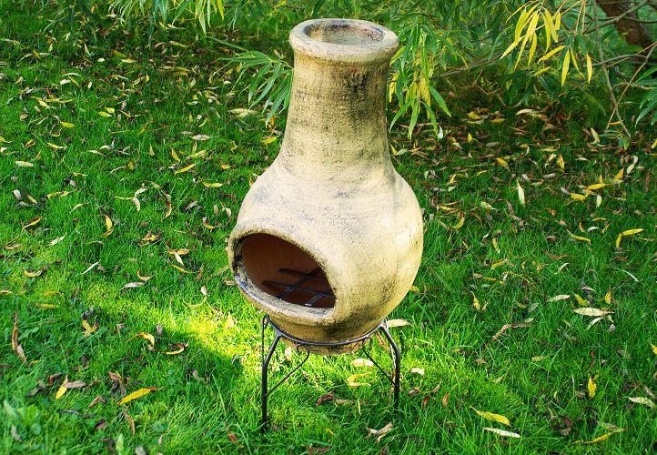 TERA Vonkajší záhradný terakotový kozub 83 cm