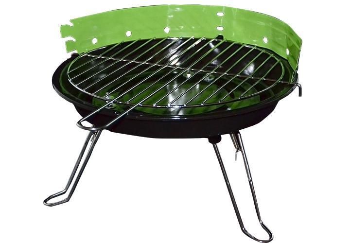 Garthen 27147 Mini párty BBQ stolný guľatý gril - zelený