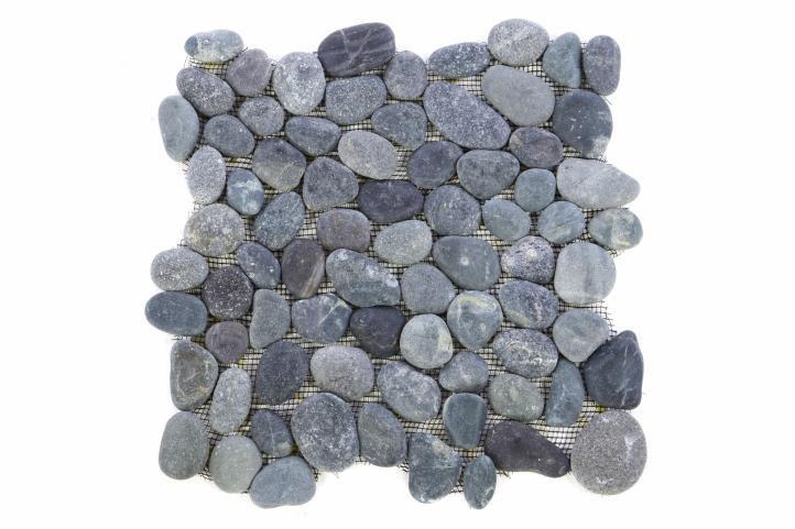 Mozaika Garth riečne okruhliaky – sivá obklady - 1x sieťka