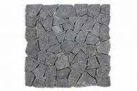 Mozaika Garth z andezitu - tmavo sivý obklad - 1x sieťka