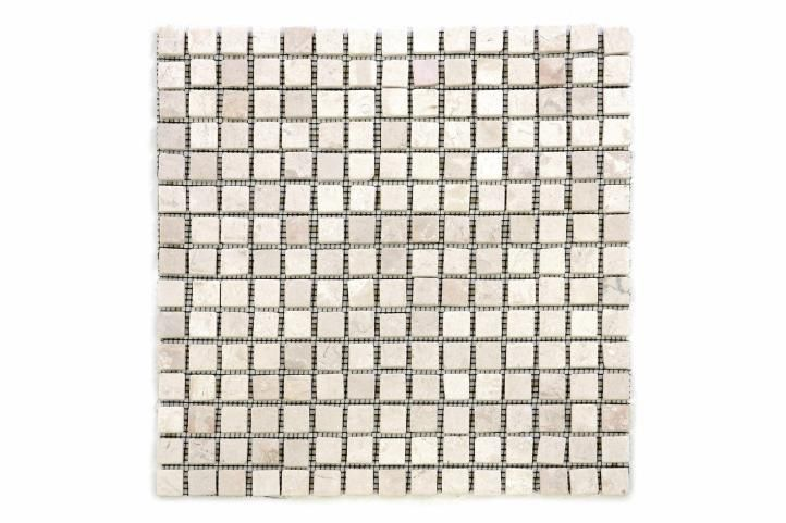 Mramorová mozaika Garth - krémová - obklady 1 ks