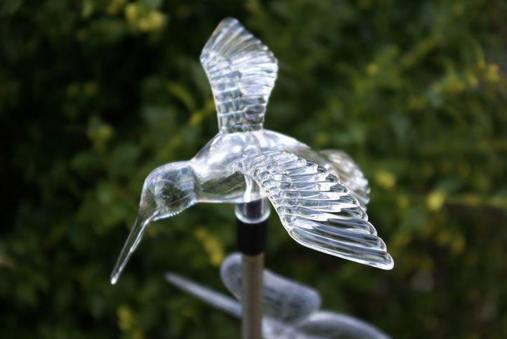 Solárne záhradné LED svetlo Garth kolibrík