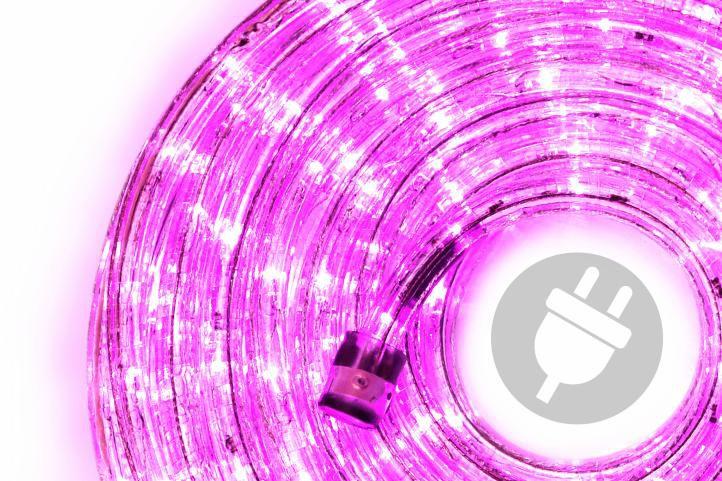 Nexos Trading GmbH & Co. KG 28837 LED světelný kabel 20 m - růžová, 480 diod