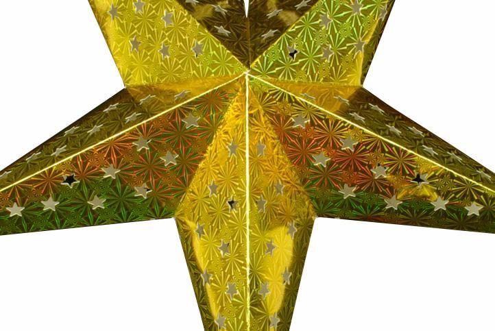 5bde7e915036 Krásna dekoratívna hviezda s piatimi hrotmi a netradičným 3D efektom.