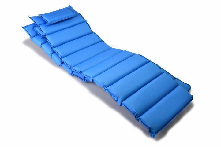 Sada 2 x polstrovanie na ležadlo Garthen - modrá