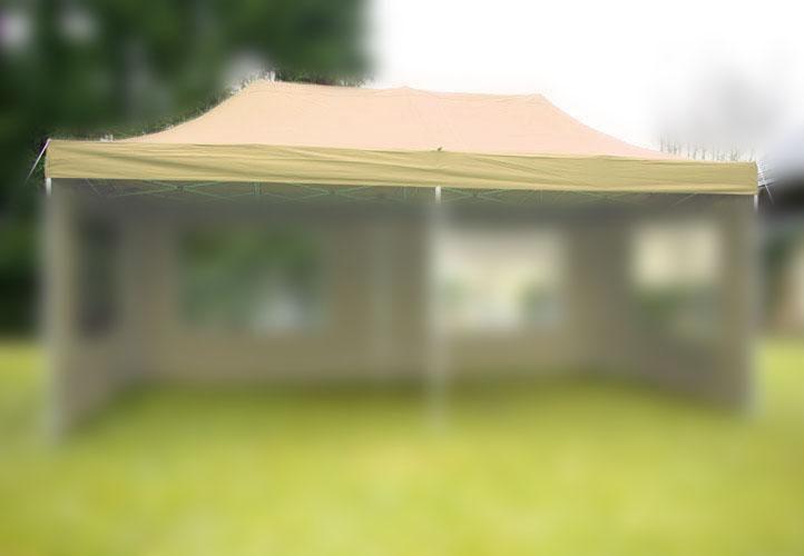 Náhradná strecha na záhradný skladací stan 3 x 6 m champagne