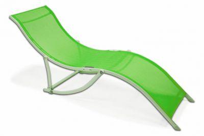 Záhradné ležadlo skladacie Garthen – zelená