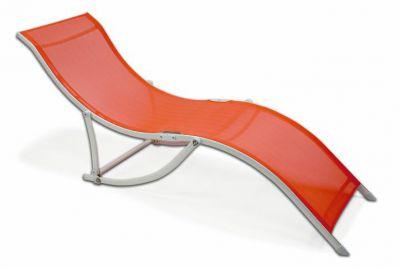 Záhradné ležadlo skladacie Garthen – oranžová