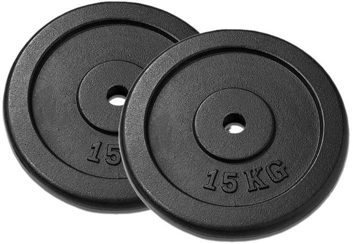 Závažie na činky 15 kg čierne, 2 ks