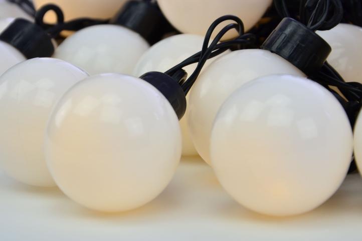 Záhradné párty osvetlenie – vonkajšie, 20 LED, teplá biela