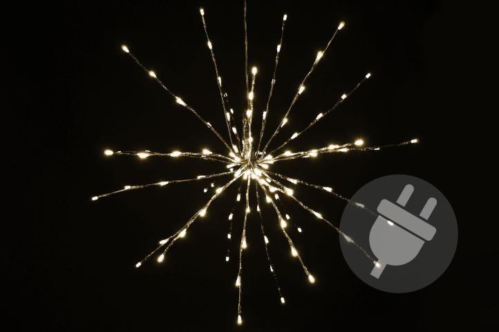 Vianočné osvetlenie - meteorický dážď, teple biely, 120 LED