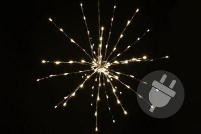 Vianočné LED osvetlenie - meteorický dážď - teplá biela, 120 LED