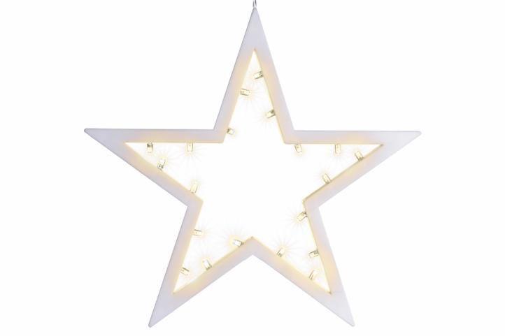 Vianočná dekorácia - hviezda, 20 LED, teple biela