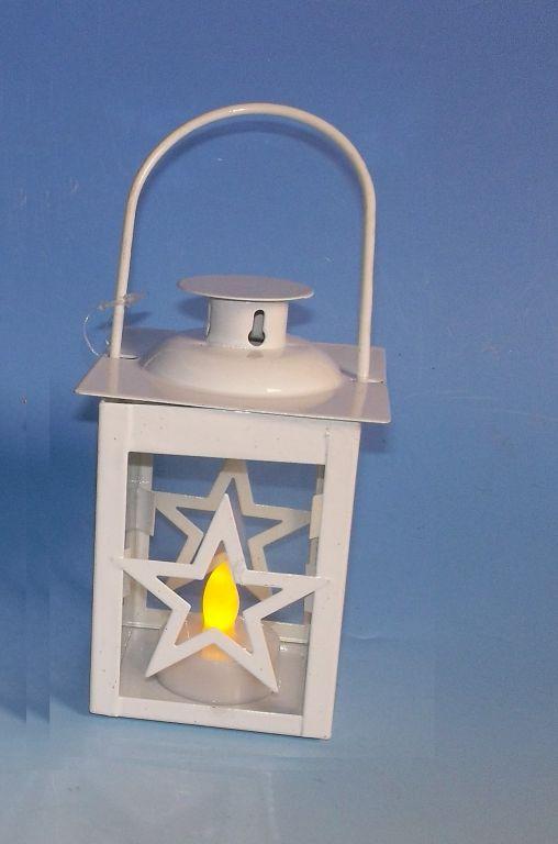 Vánoční dekorace - mini lucerna hvězda - 1 LED
